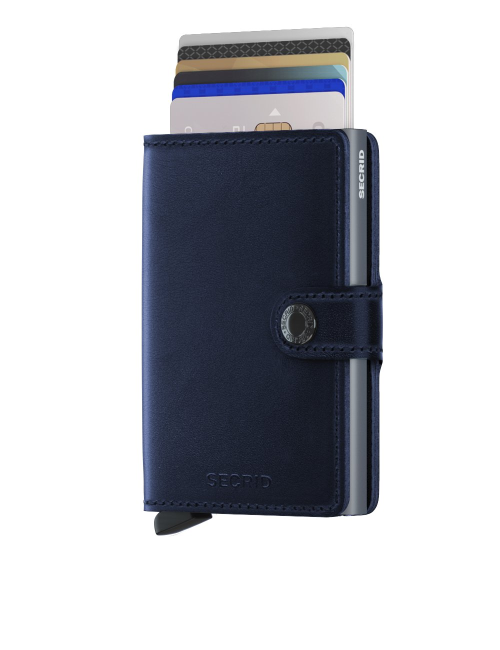 Secrid Miniwallet Polished Navy Front Cards