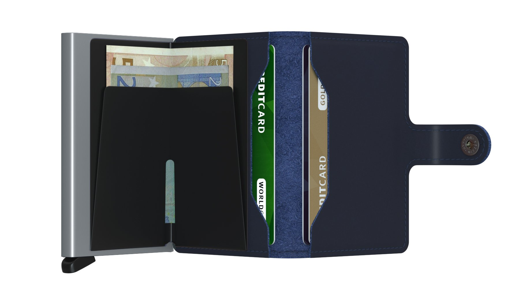 Secrid Miniwallet Polished Navy Open