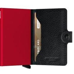 Secrid Miniwallet Veg Black-Red Semi Open