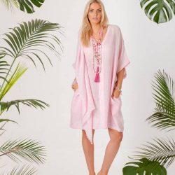 flossy pink kaftan